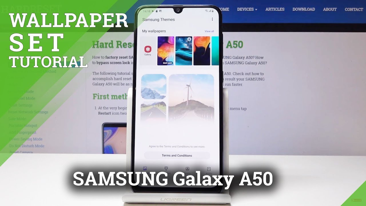 How To Change Wallpaper In Samsung Galaxy A50 Set Wallpaper Youtube