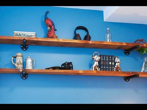 How To Make Rustic Industrial-Style Wall Shelves