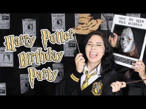 HOW TO PLAN A HARRY POTTER PARTY ⚡️DIY PHOTOBOOTH