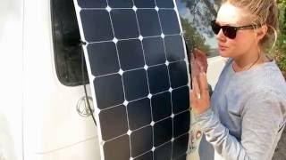 solar panel set up and instruction for a 2000 eurovan