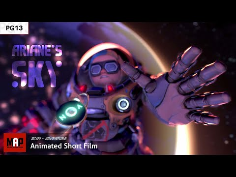 Cute CGI 3d Animated Short Film ** ARIANE'S SKY **  Space Animation Cartoon by IsART Digital