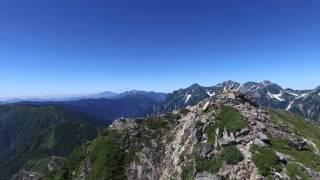 三叉~前常念岳~常念岳で撮影。 撮影機材 Phantom3。 2015/8/1撮影。 B...