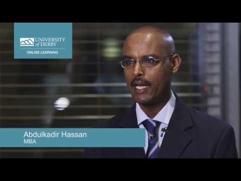 Online learning MBA graduate, Abdulkadir Hassan