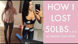 HOW I LOST 50LBS AND KEPT IT OFF!  MY WEIGHT LOSS STORY!!