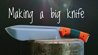 Making a Chopper Knife - Complete build