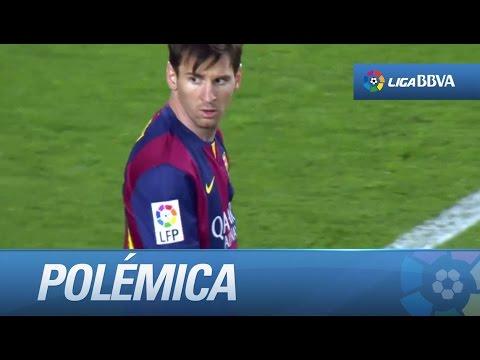 Gol anulado a Messi por falta en ataque