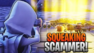 Scamming A Squeaker For His Best Guns! (Scammer Gets Scammed) Fortnite Save The World