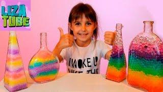 Опыты с цветными орбизами Делаем РАДУГУ в бутылке из орбизов Орбиз краш от канала Lizatube