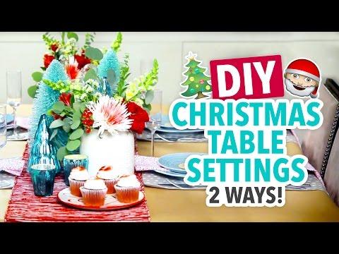 DIY Christmas Table Settings 2 Ways - HGTV Handmade