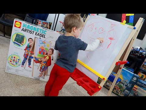 ALEX Toys Artist Studio Magnetic Artist Easel Review Unboxing Assembly Drawing