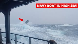 Ship in Storm | INSANE Navy Boat Exercise in Too Rough Sea (Storm Force 12)