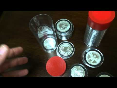 Silver bullion tubes + Airtight = EASY WAY TO TRANSPORT & SHOW YOUR SILVER!
