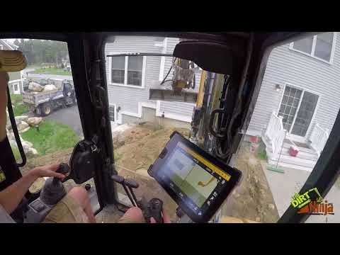 Trimble Earthworks - Cat 305.5e2 Excavating For Patio