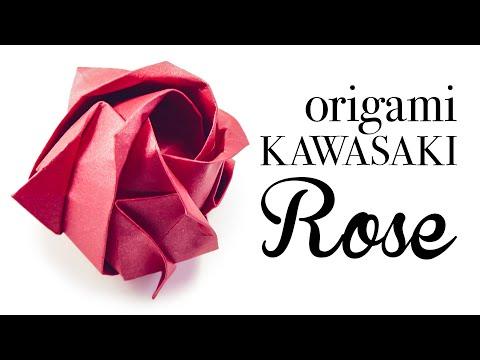 Origami Kawasaki Rose Tutorial 🌹 DIY 🌹