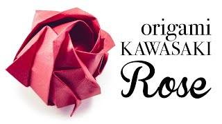 Origami Kawasaki Rose Tutorial 🌹 DIY 🌹