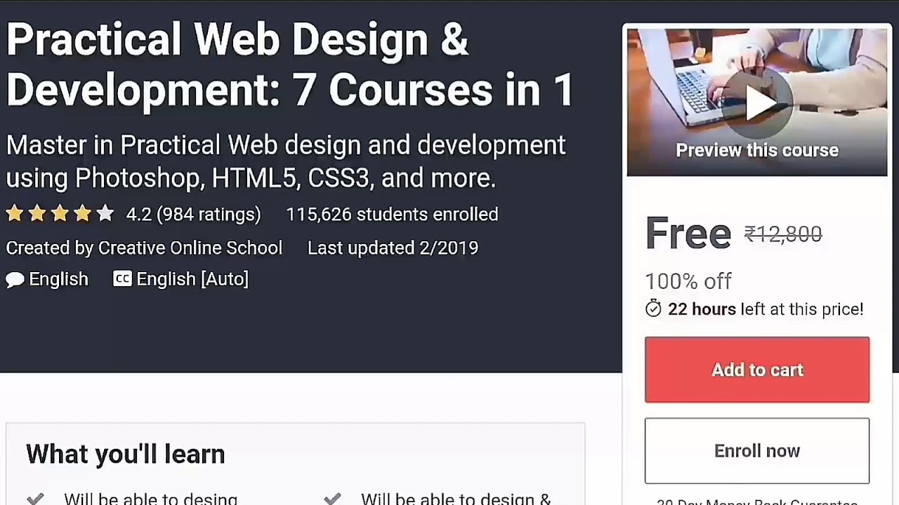 Free Udemy Web Design Development Course And Certificate Free Course By Udemy Get Free Certificate Youtube