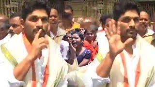 Watch Dj Duvvada Jagannadham Team Visits Tirumala #DJ #DuvvadaJagan...