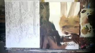 'Breaking Free' time lapse painting by Nick Pike