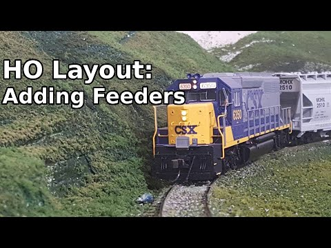 Adding feeder wires to layout - YouTube