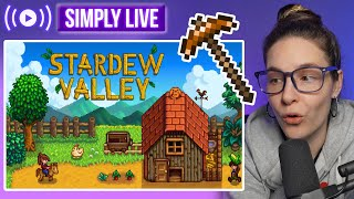 Stardew Valley Farm Life 🔴LIVE - Simplygamelogical tries it