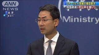 ファーウェイ禁輸措置 中国政府が撤回要求(19/11/20)