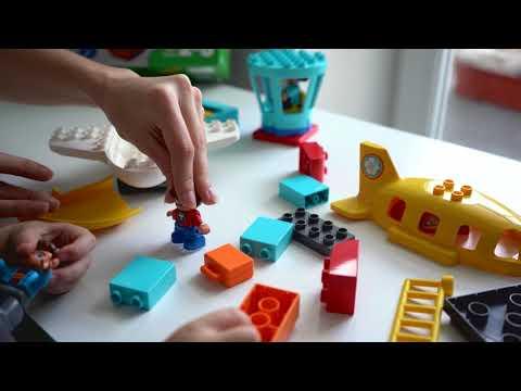 Собираем конструктор / Лего дупло аэропорт / Lego Duplo