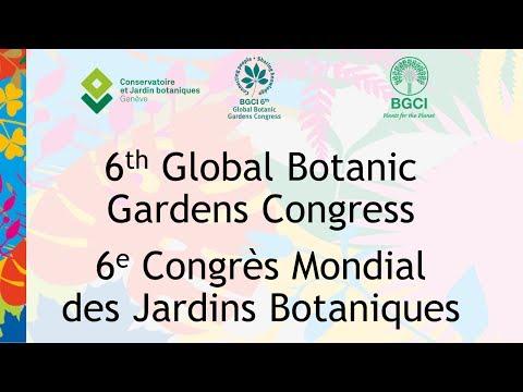 6th Global Botanic Gardens Congress - Bernard Baertschi - Université de Genève