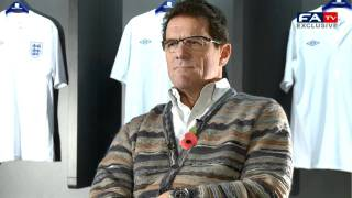 Fabio Capello talks about Wilshere, Carroll and olives - England vs France 17/10/10