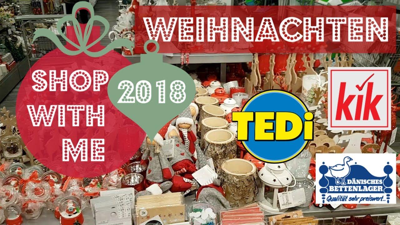 Weihnachtsdeko Kik.Weihnachtsdeko 2018 Shop With Me I Neue Deko Bei Tedi Kik Dänisches Bettenlager