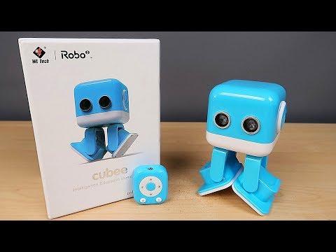 Няшный Мини Танцующий Робот WLtoys Cubee F9. Распаковка и обзор. Посылка из Китая. alex boyko - видео онлайн