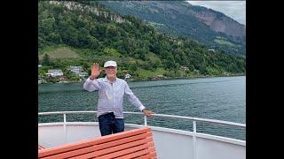 Schifffahrt von Luzern nach Flüelen mit Musik aus Tell-Traditionell von Hanspeter Reimann