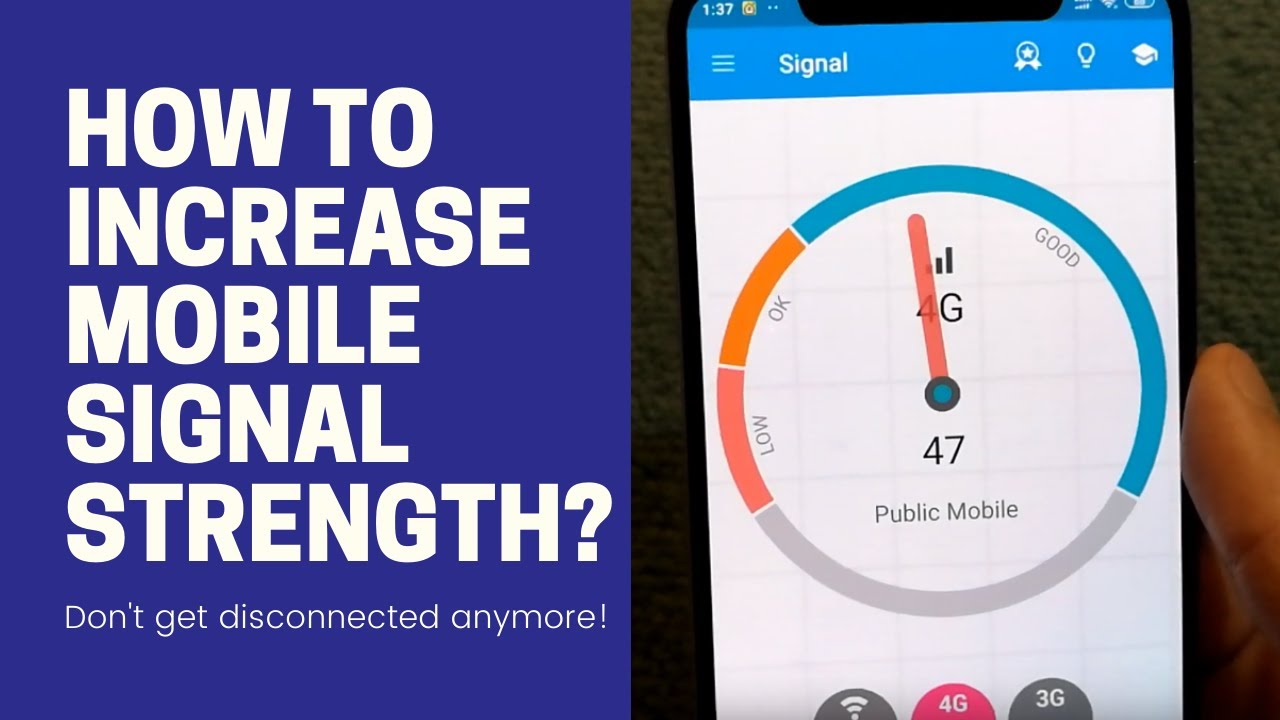 how to improve mobile network signal strength