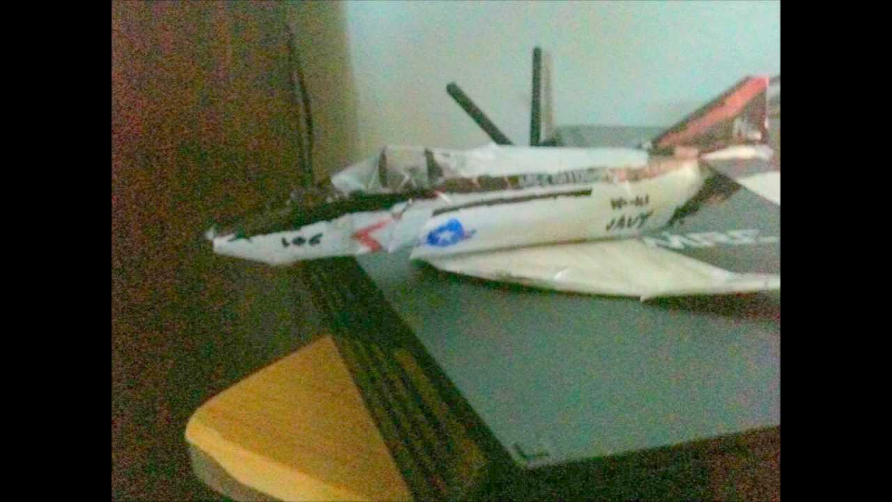 Papercraft F-4 Phantom Paper model (Homemade)