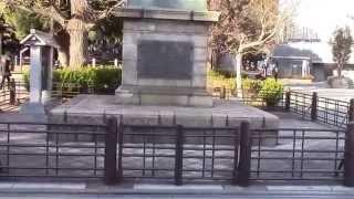 「日本開国の父」明治維新の立役者・西郷隆盛の銅像ー上野公園にある.