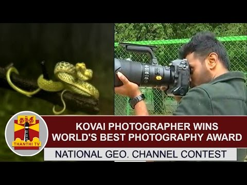 National Geographic channel photo contest : Kovai photographer wins world's best photography award