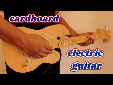How to make a Slim electric guitar with cardboard