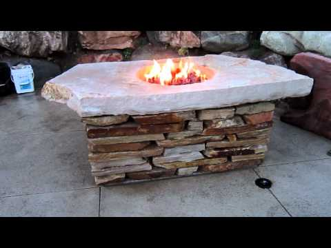 Natural Rock Fire Pit Table