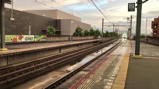 突発代走2700系運用の特急しまんと6号高松行き丸亀駅到着シーン