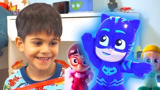 PJ Masks 💜 Toys Coming to Life?! ⭐️ NEW SERIES Micro Mini PJ Masks  ⭐️ Cartoons for Kids