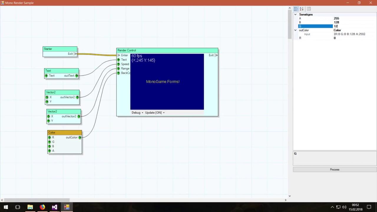 MonoGame Forms - Node Graph Editor Test