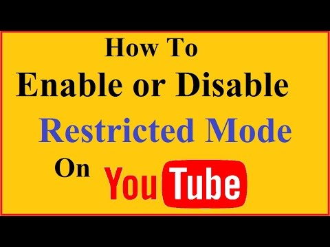 How to Enable or disable Restricted Mode on Youtube (Android/IOS)