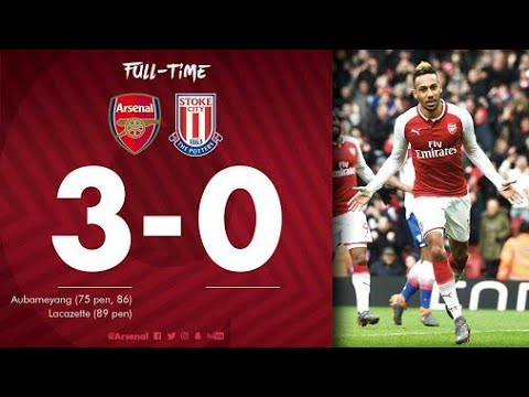 Download Arsenal vs Stoke City (3:0) All Goals & Extended Highlights - EPL 2/4/2018