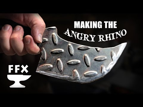 "Making a Post Apocalypse Knife ""The Angry Rhino"" from Steel Tread Plate"
