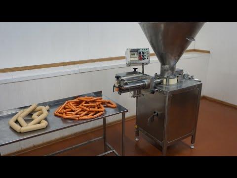 Колбасные шприцы ИПКС-047 - обновление модельного ряда. Производство колбасы, перекрутка сосисок.