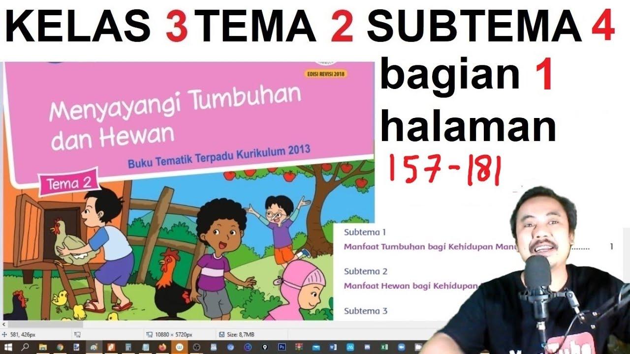 Tema 2 Kelas 3 Subtema 4 Halaman 157 181 Menyayangi Tumbuhan Dan Hewan Bagian 1 Rev 2018 Youtube
