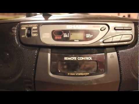 Sharp QT-CD130 stereo radio, CD, cassette player  repair. Disc read error, does not play CD problem