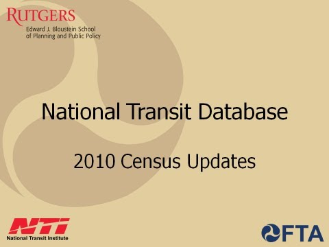 NTD 2010 Census Updates