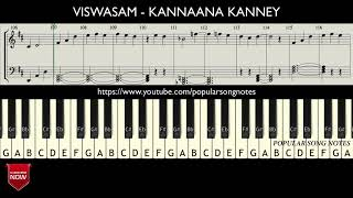 VISWASAM - KANNAANA KANNEY ( HOW TO PLAY ) MUSIC NOTES