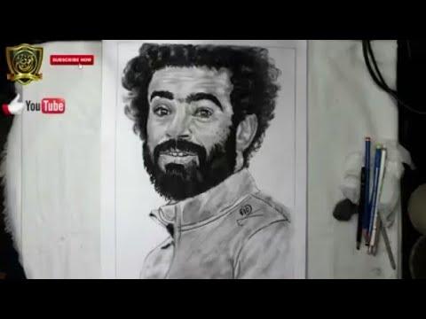 رسم محمد صلاح بالرصاص Drawing Mo Salah Youtube