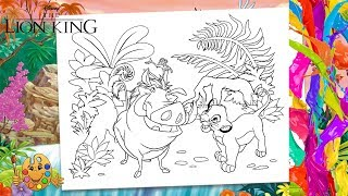 The Lion King : Simba, Timon & Pumbaa | Coloring pages for kids | Coloring book |